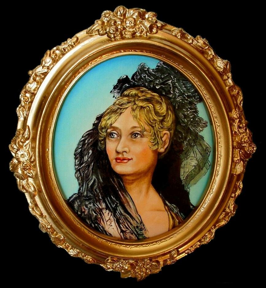 Bildnis einer Frau aus der Biedermeierzeit