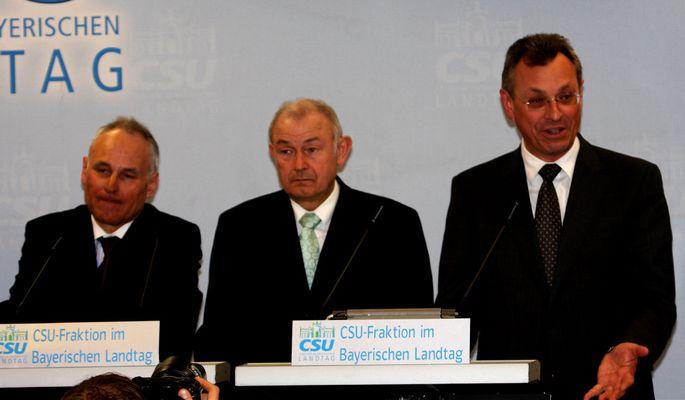 Bildungsoffensive Bayern mit Huber, Beckstein, Schneider
