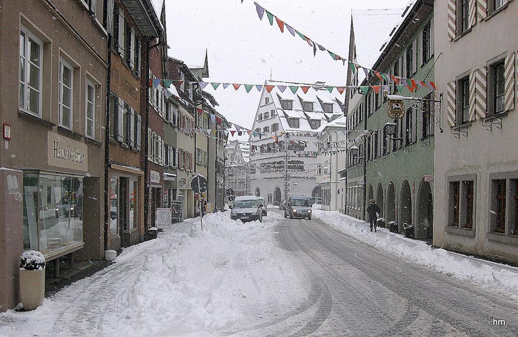 Bindstraße im Schnee