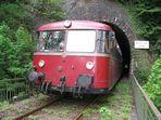 Binoler Tunnel 277 m mit UERDINGEN Schienebus
