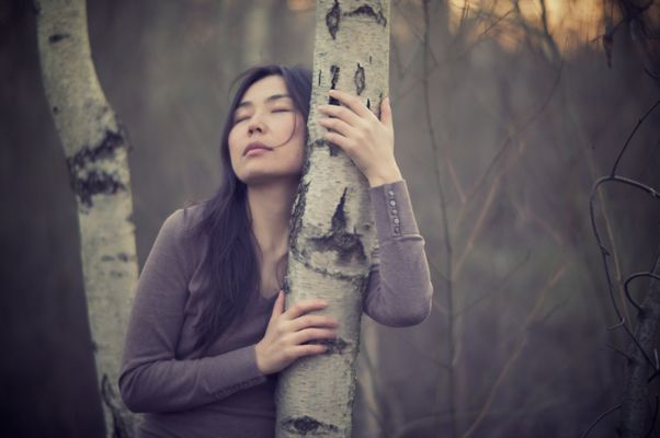 Birch tree huggin'