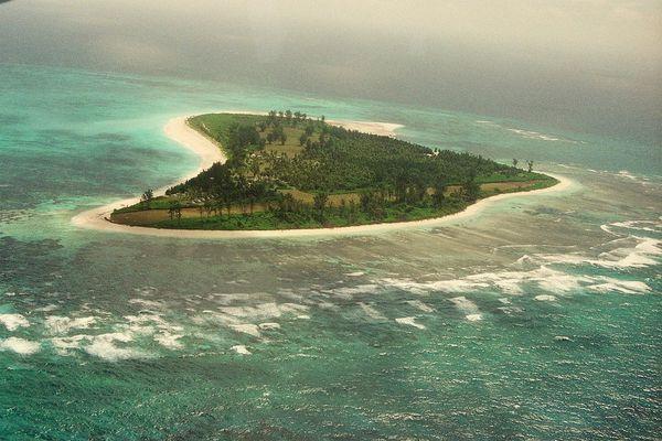 Bird Island Seychellen Luftbild