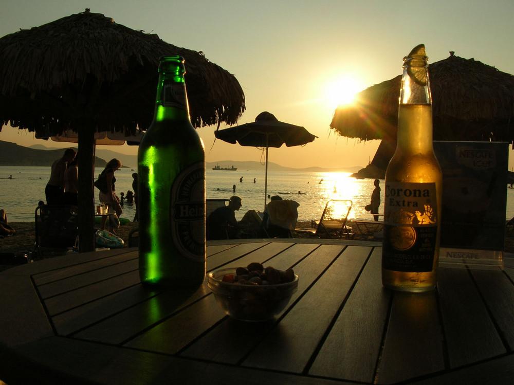 Birre al tramonto