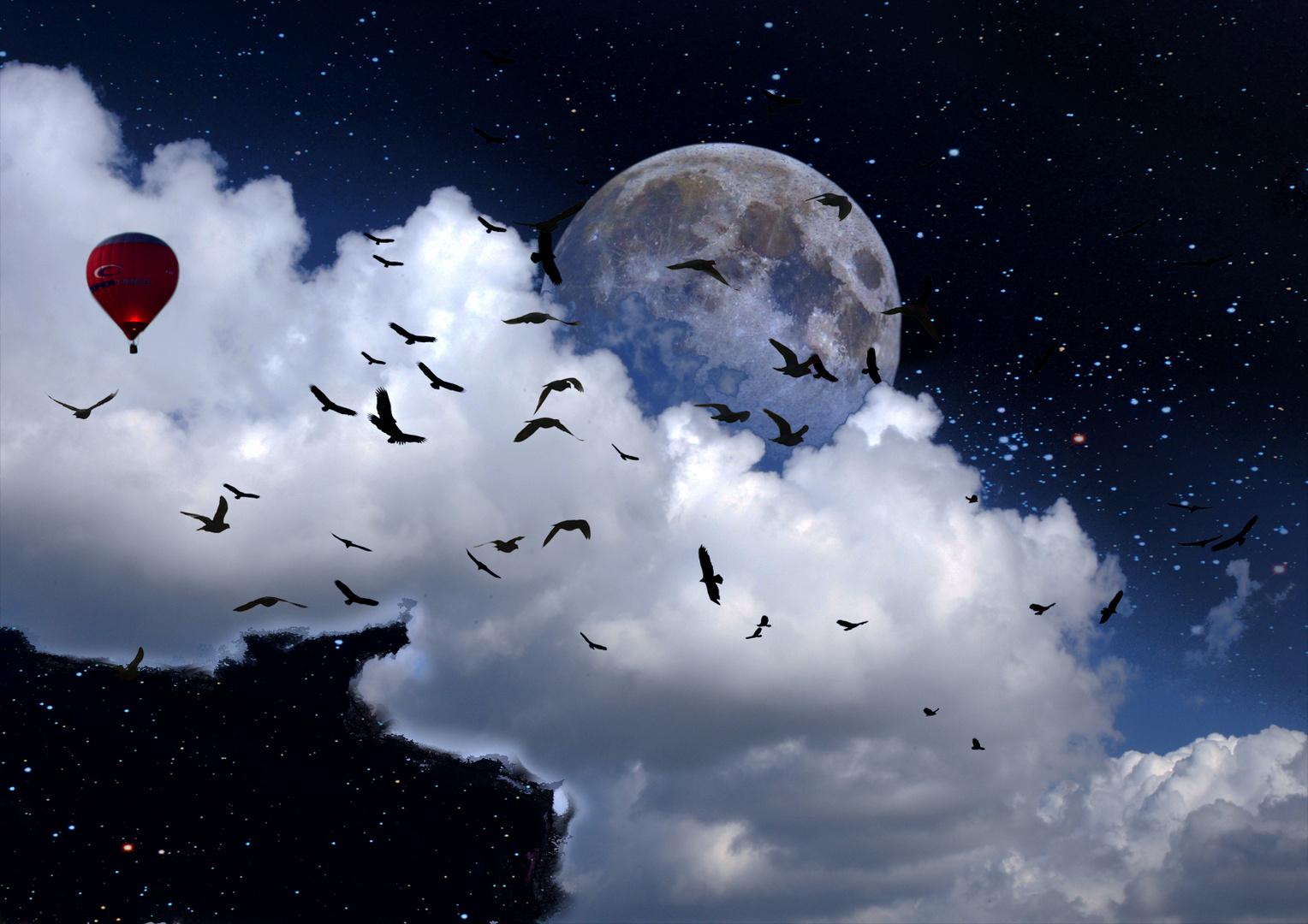 Bis zum Mond