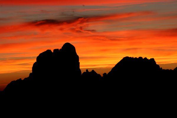 Bischofsmütze (2455m) im Sonnenuntergang