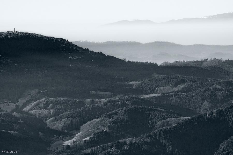 ... bisher kein Schnee im Tal ...