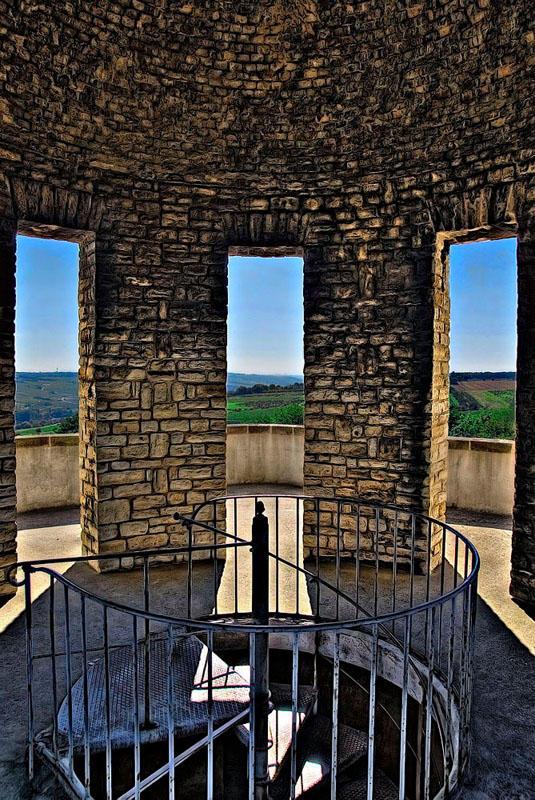 Bismarckturm - Aussichtsplattform - innen
