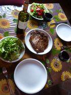 Bistecca ai ferri alla insalata mista ...
