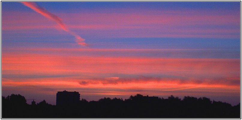 Bizarrer Morgenhimmel...