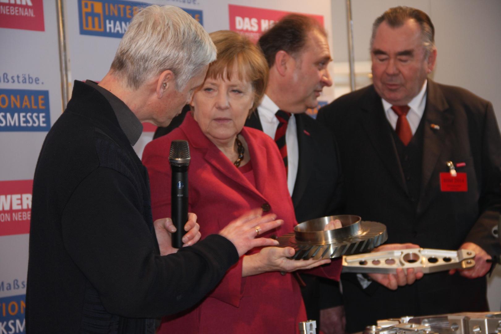 BK Angela Merkel auf der Internationalen Handwerksmesse 14.3.2014 München
