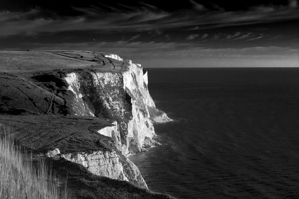 Black and White Cliffs of Dover