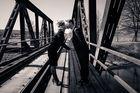 black & bridge