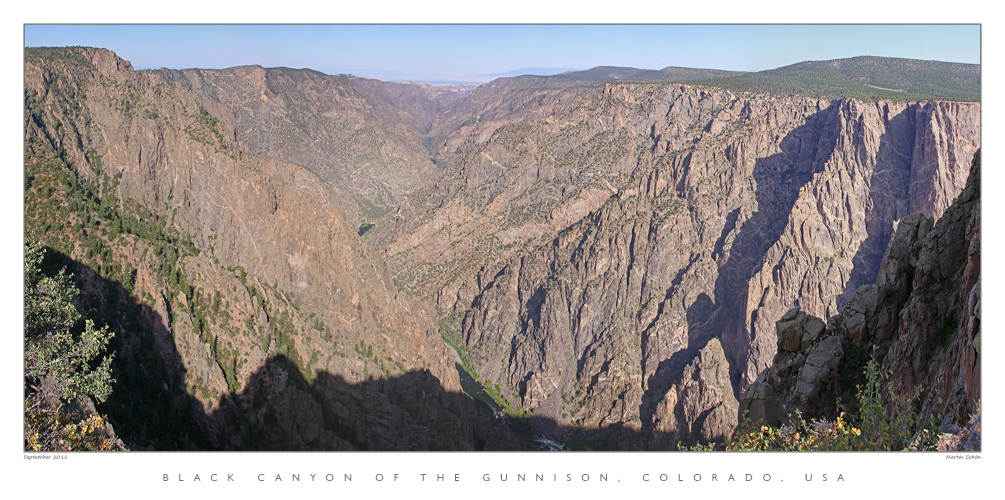 Black Canyon Of The Gunnison Nationalpark in den USA