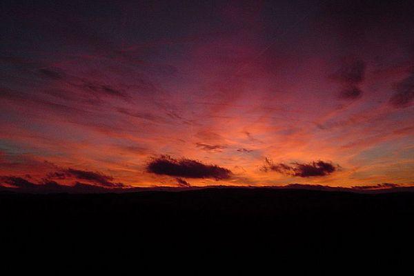 black fire sky