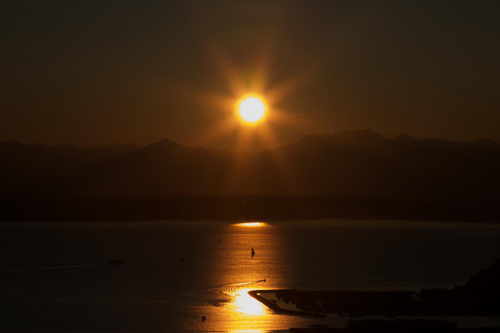 black old sun