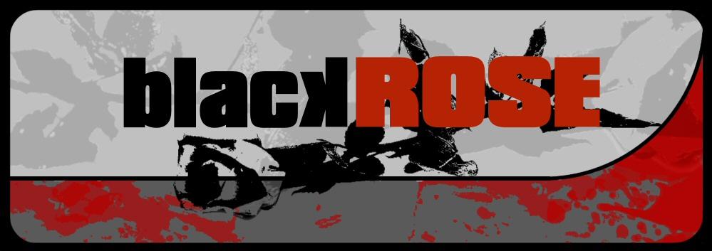 -black rose-
