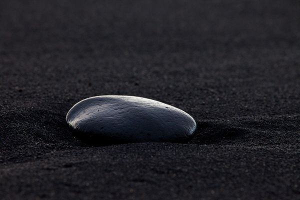 Black stone black sand