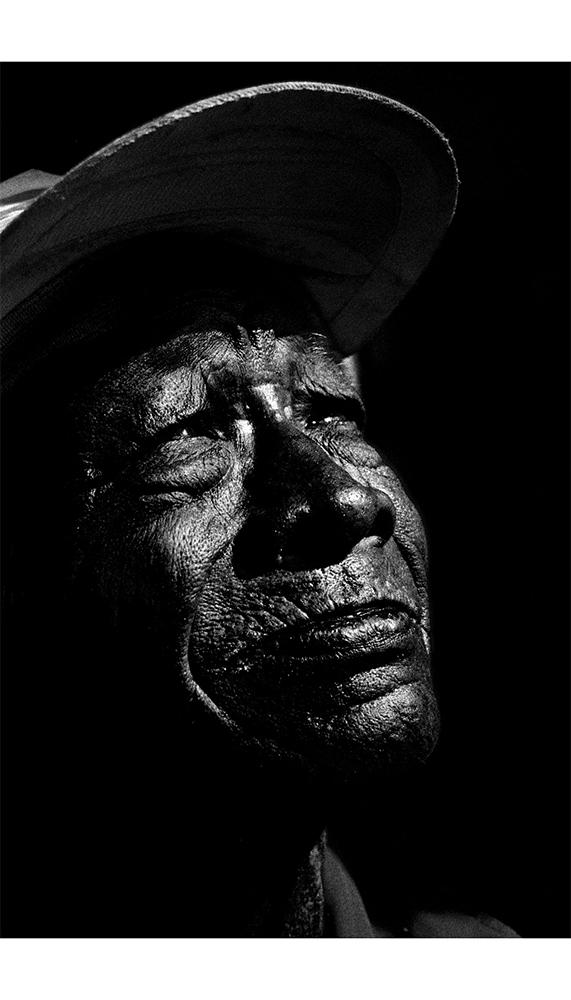 black view of black skin