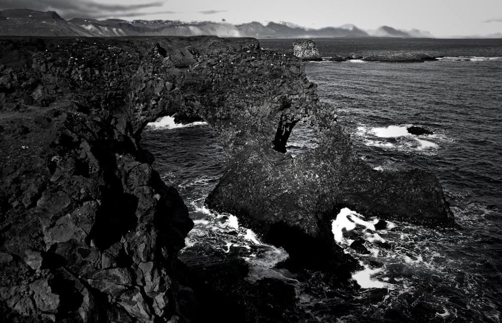 black-white of iceland VI