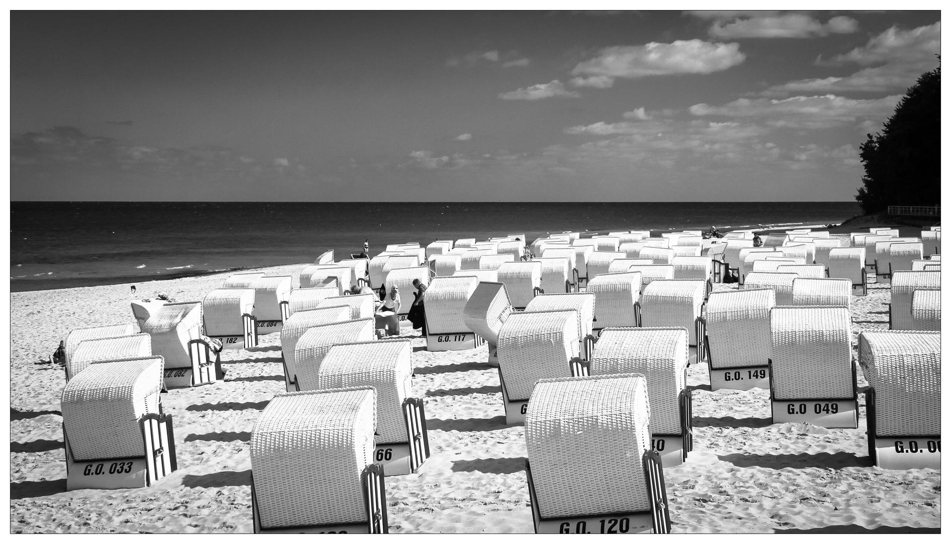 Black White Seaside