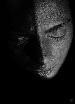 black&white face