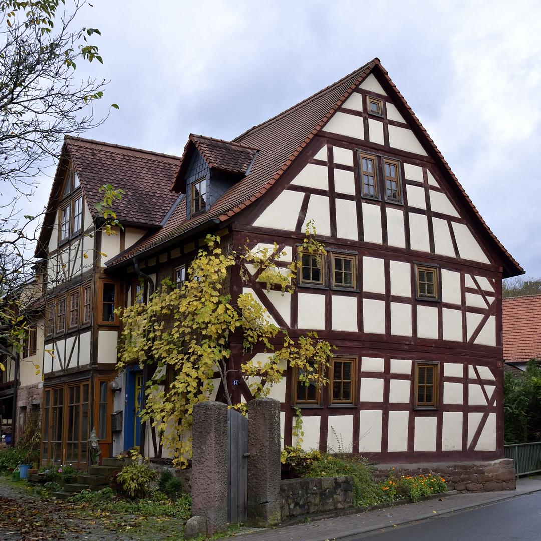 Blähhaus mit Eingang