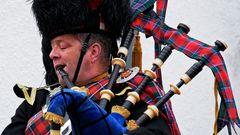 Blair Castle Atholl Highlander Dudelsackspieler