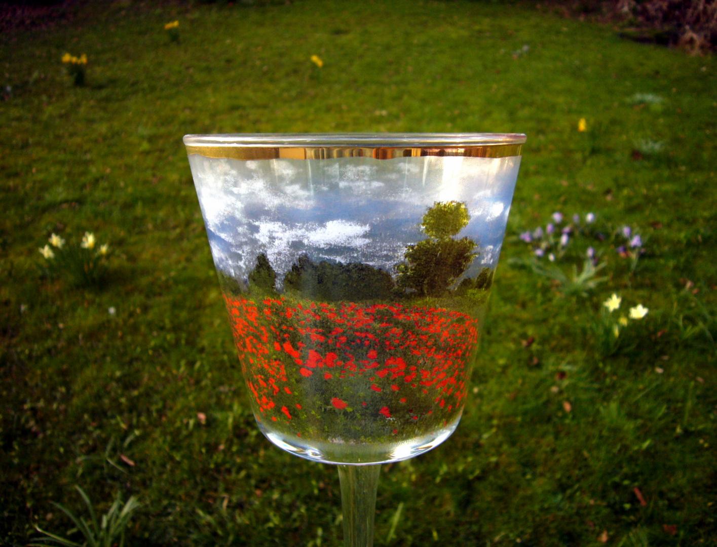 Blase die Welt als Glas ...