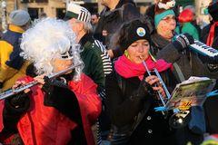 Blaskapelle +16Fotos K21 Fasching Rosenmontag 2015