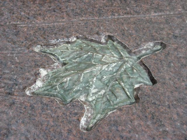 Blatt im Stein