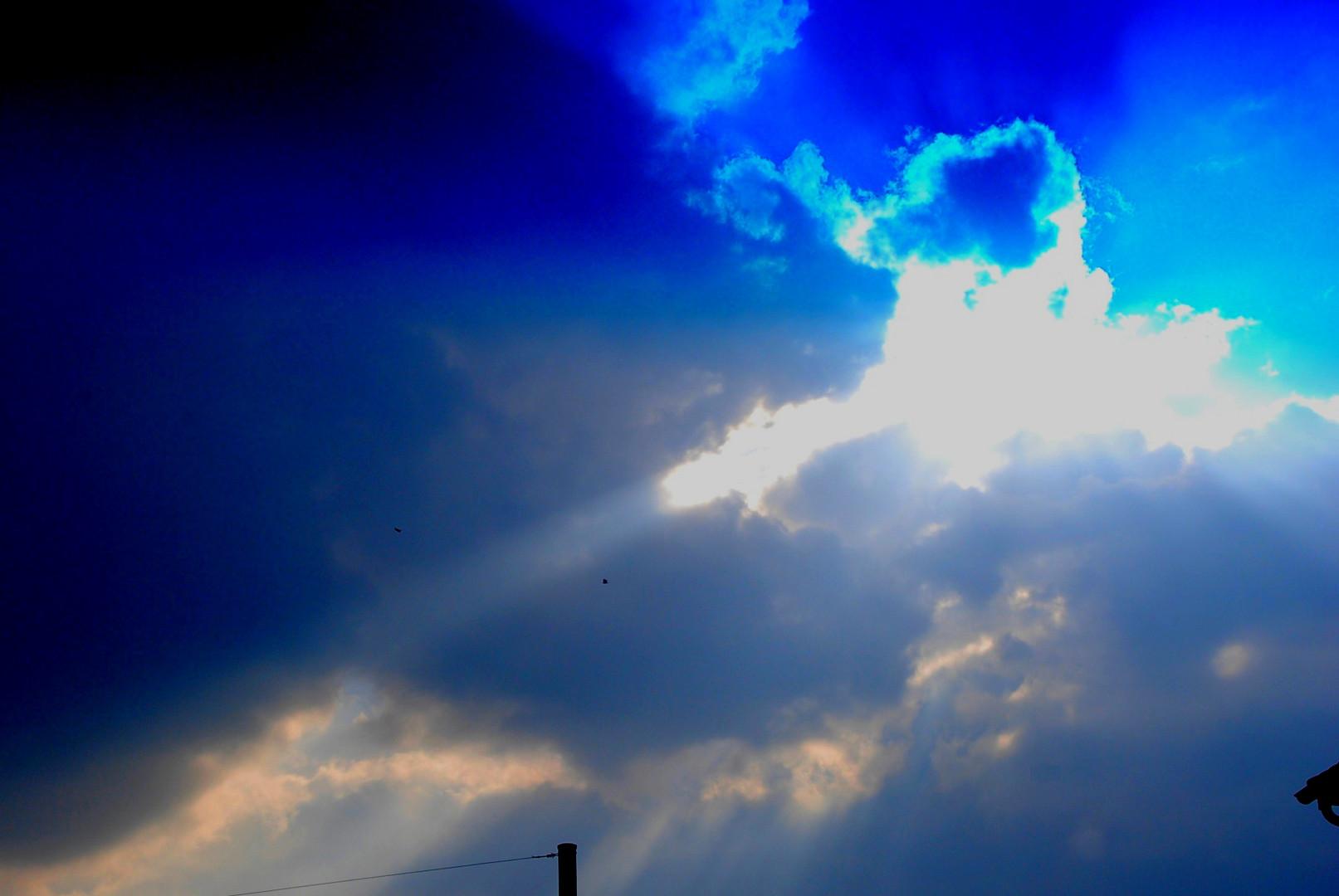Blau & grau
