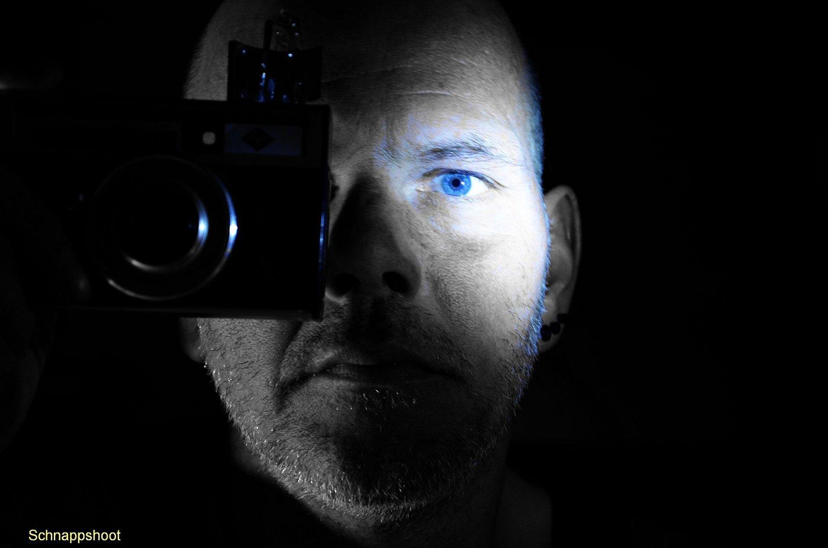 Blau im Auge