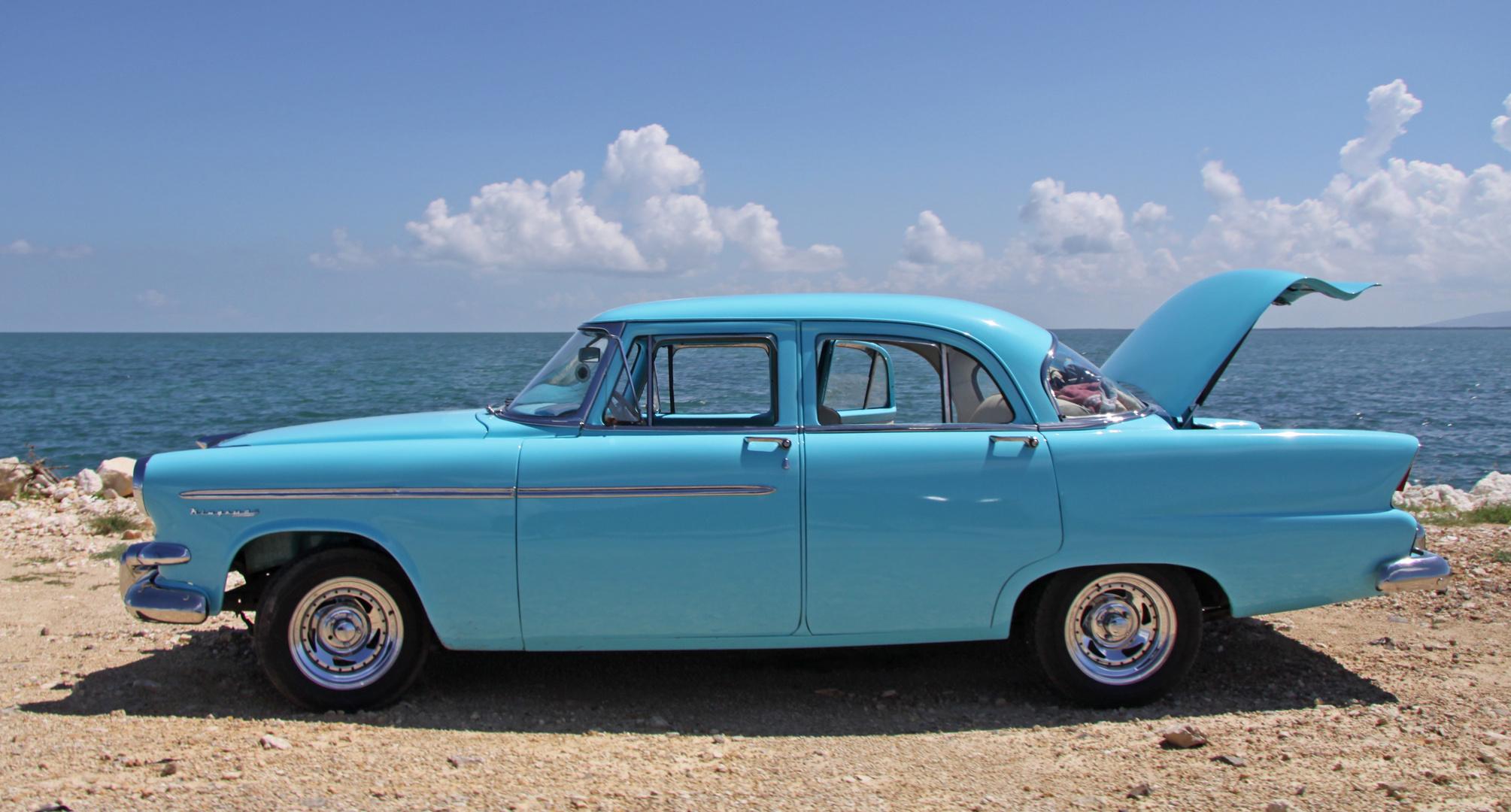 blau in blau auf kubanisch