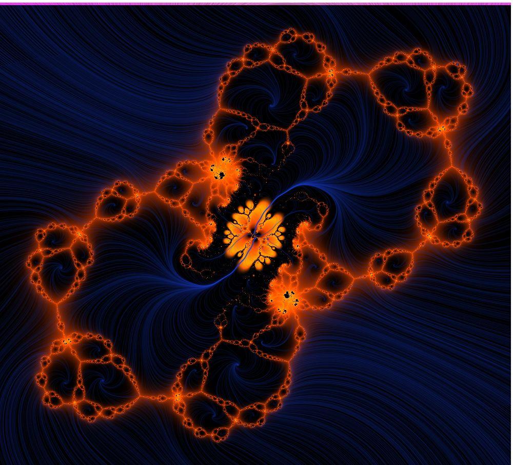 Blau - Orange Fantasie