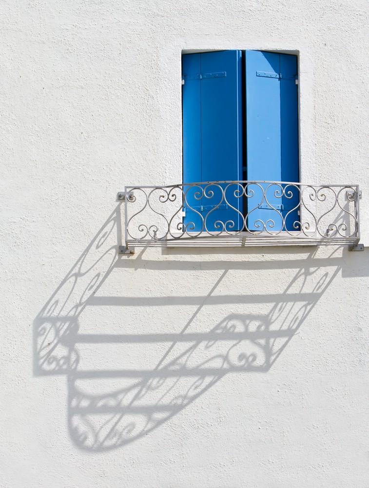 blau - weiß