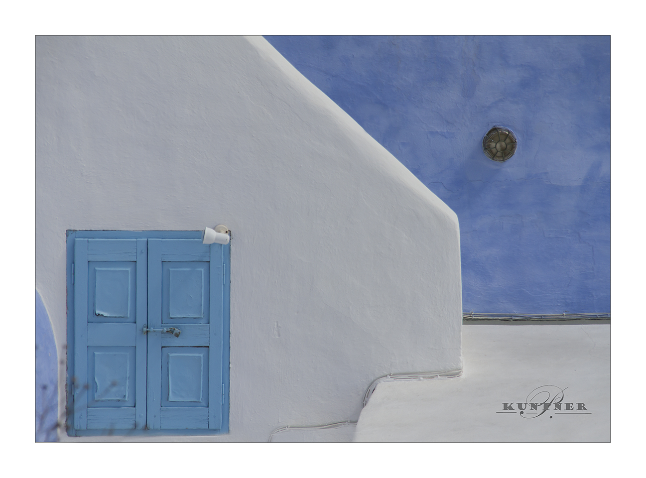 blau weiß Santorin
