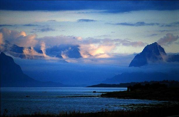Blaue Bergstimmung