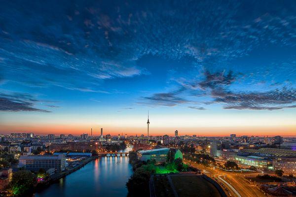 Blaue Berliner Mitte