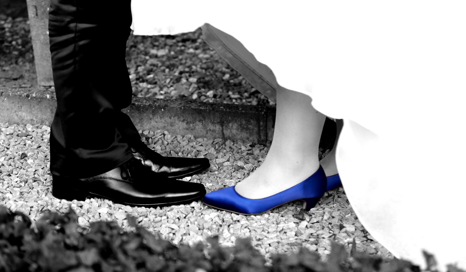 Blaue Brautschuhe :-)