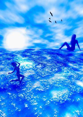 blaue Fantasy