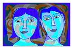 blaue Gesichter (blue faces)