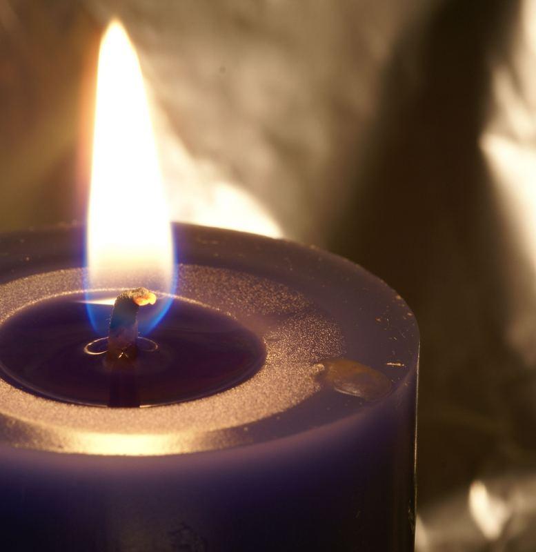 blaue Kerze