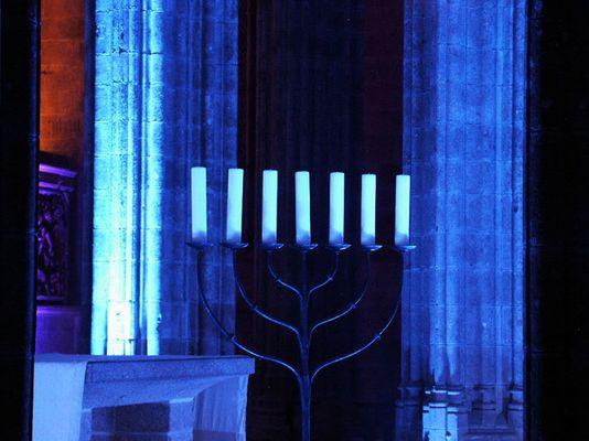 Blaue Kerzen