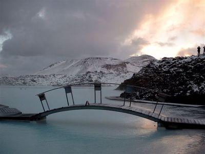 Blaue Lagune im Winter