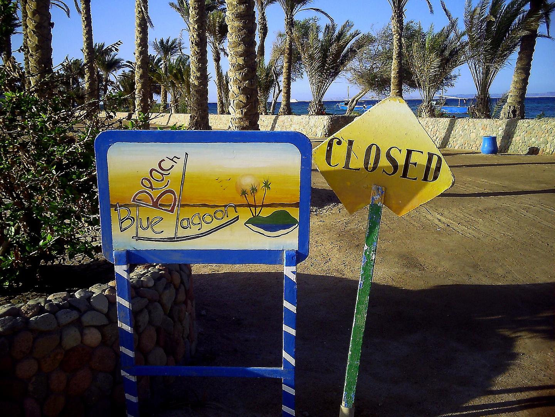 Blaue Lagune war geschlossen