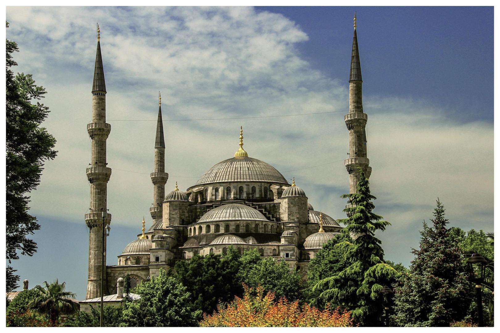 Blaue Moschee oder Sultan-Ahmed-Moschee