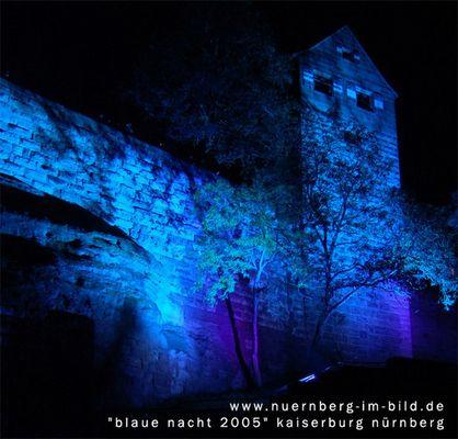 """""""blaue nacht"""" 2005 kaiserburg nürnberg"""