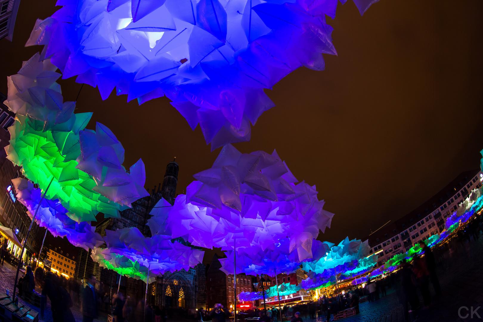 Blaue Nacht Nürnberg 2014: Hauptmarkt
