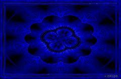blaue Rosette