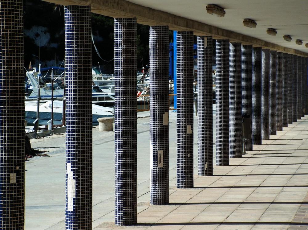 Blaue Säulen in Porto Cristo